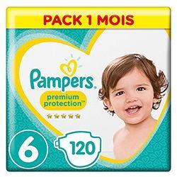 Prix des couches Pampers Premium Protection Taille 6 en pack 1 mois de 120 couches