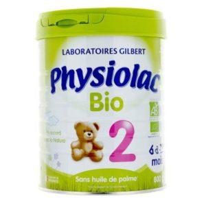 Lait en poudre Physiolac Bio 2