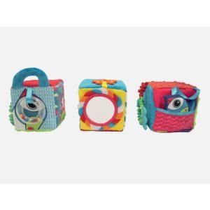 Cubes d'activité bébé en tissu - Ludi