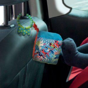 Cube bébé voiture en tissu avec anneau - Ludi