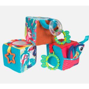 Cubes bébé en tissu avec miroir - Ludi