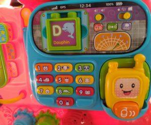Pousseur bébé avec téléphone Vtech Maxi Trotti Loco - référence 181905