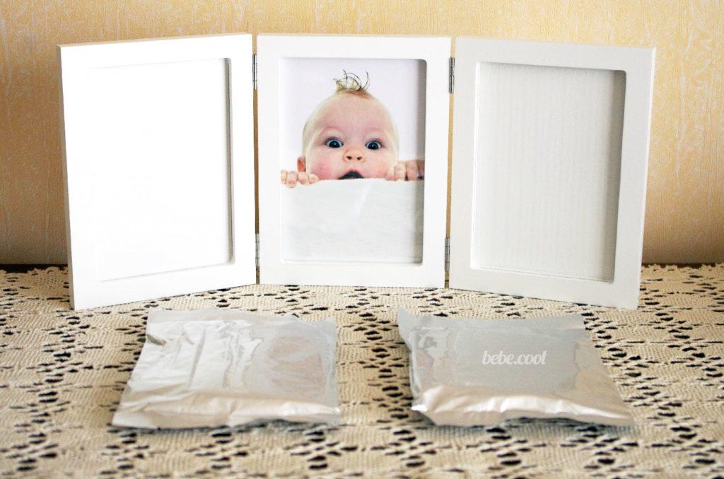 Sachets d'argile vendus avec ce kit empreinte bébé
