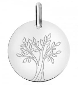 médaille de baptême arbre de vie or blanc