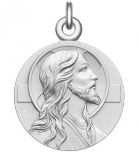 médaille de baptême christ argent